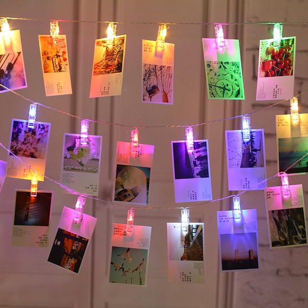 Photo Clips String Light 3xAA Battery Powered LED Clips Lights Christmas Light for Hanging Pictures Card Notes Artwork Fairy Lights