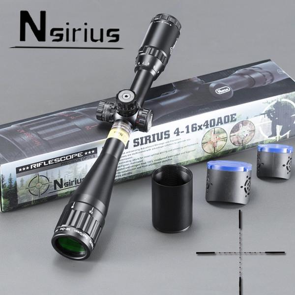 Nsirius Precision Optics 4-16x40 AOE Rot Grün beleuchtet Mil Dot Zielfernrohr Jagd Gun Scope mit Sonnenschirm und Montage