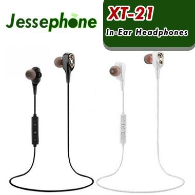 XT-21 Drahtlose Bluetooth Kopfhörer Sport Kopfhörer Doppel Lautsprecher Sicher Fahrer Ohrhörer Headset HIFI Stereo BT4.2 DJ Musik mit box 100 stücke