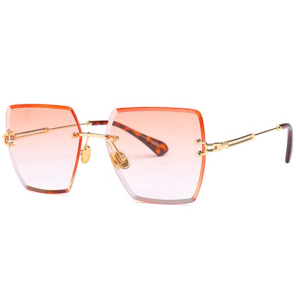 e25a0f7f9fa 2018 LuxuryNew Square Sun Glasses Brand Designer Ladies Oversized Crystal Sunglasses  Women Big Frame Mirror Sun Glasses For Female UV400