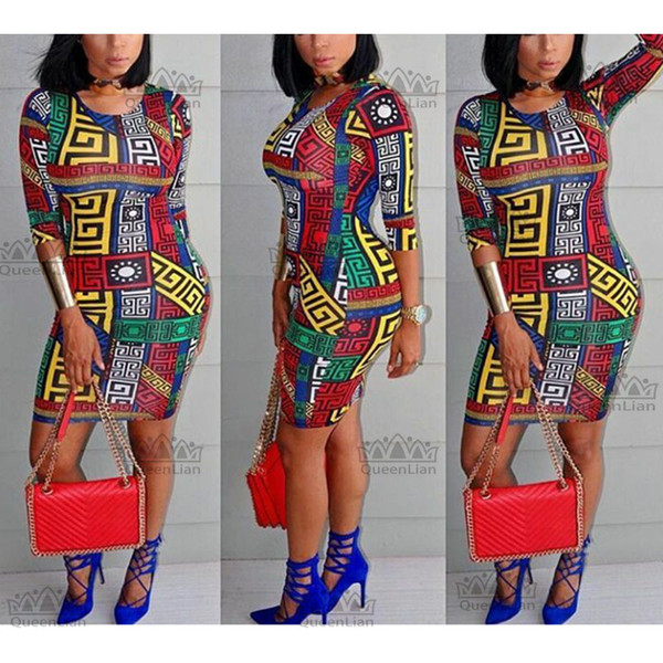 fashio African dresses for women ankara fabric clothes Party Dresses sexy dress Batik wax printing lady dashiki clothing