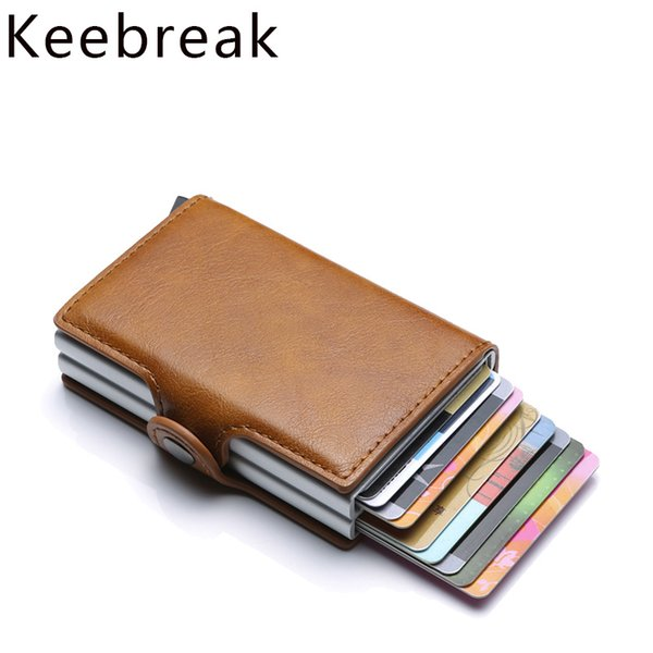 Rfid Wallet Men Money Bag Thin Mini Purse Male Metal Aluminium Card Wallet Small Smart Vallet portefeuille homme