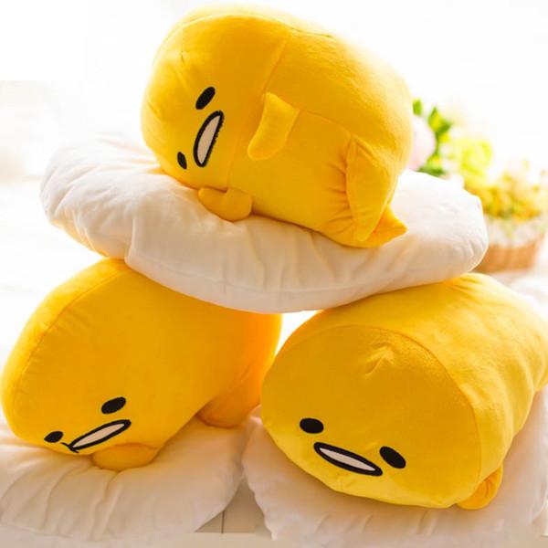 Cute 40*30cm Gudetama Lazy Egg Egg jun Plush Toy Yolk Brother Large Pillow Lazy Balls Stuffed doll For Children Friend Gift