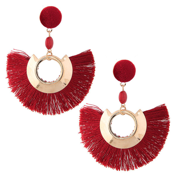 2018 Bohemian Big Tassel Orecchini per donna Lady Female Fringe orecchino Handmade Brincos Statement Nuovi orecchini Gioielli di moda