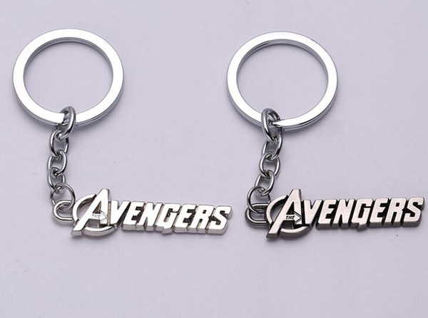 Marvel Comics the Avengers logo Keychain The Avengers Words Letter Keychain Metal Key Rings Fans Chaveiro Key Chain Jewelry