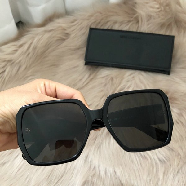 SL M2 black Square Sunglasses Sonnenbrille gafas de sol luxury brand designer shades Glasses UV400 New with box