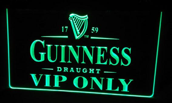 LS472-g Guinness VIP Only Bar Neon Light Sign Decor Free Shipping Dropshipping Wholesale 8 colors to choose