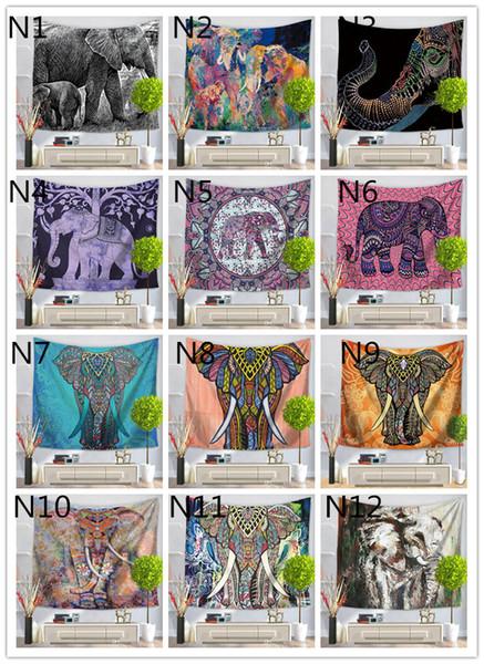 180 designs wandbehang tapisserie glücklicher elefant strandtuch schal böhmischen mandala yoga matte tischdecke polyester tapisserien wohnkultur