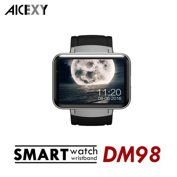 DM98 Smart watch Android 4.4 MTK6572 Dual Core 1.2Ghz 2.2 inch IPS HD 900mAh Battery 512MB Ram 4GB Rom 3G WCDMA GPS WIFI smartwatch