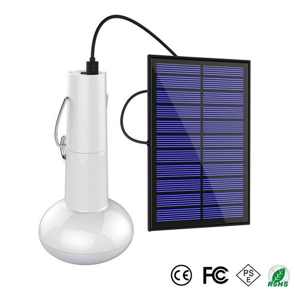 Portable LED Solar Energy Bulb Outdoor Waterproof Camping Lantern for Home Emergency Camping Hiking Tent Chicken Coop Shed Barn Lighting
