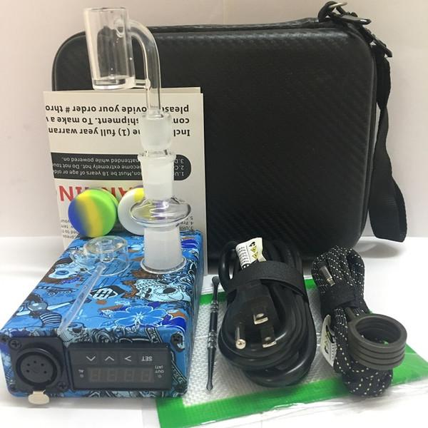 Waterproof portable Enail E quartz nail bangers PID TC control dab box kits 14mm 18mm male& female for DIY smoker with coil heater