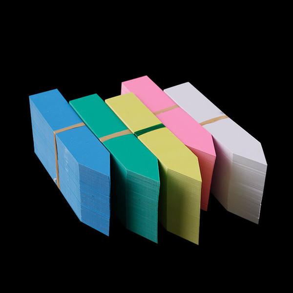 100 stücke viel kunststoff gartenpflanze etiketten kindergarten stake tags aussaat topf marker garten ornament etiketten 5 größen option