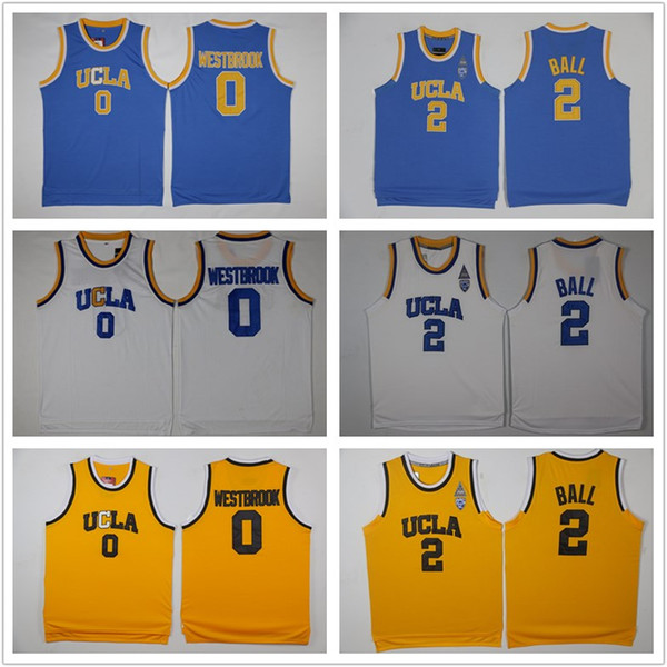 the latest 426e4 2ff02 2019 NCAA UCLA Bruins Jersey 2 Lonzo Ball 0 Russell Westbrook 42 Kevin Love  Reggie Miller Blue White Yellow Stitched College Basketball Jerseys From ...