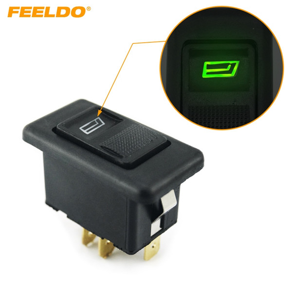 top popular FEELDO Universal 5pins Electromobile Power Window Switch 12V 24V 20A with illumination indicator #1449 2021