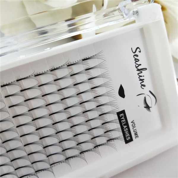 Seashine factory free shipping 5D long stem handmade russian volum eye lashes cheap individual eyelash extensions makeup false eyelashes