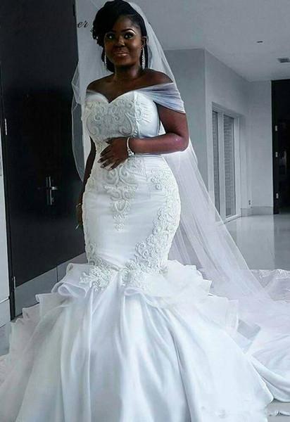 Großhandel 2018 New Günstige African Robe De Ehe Mermaid ...