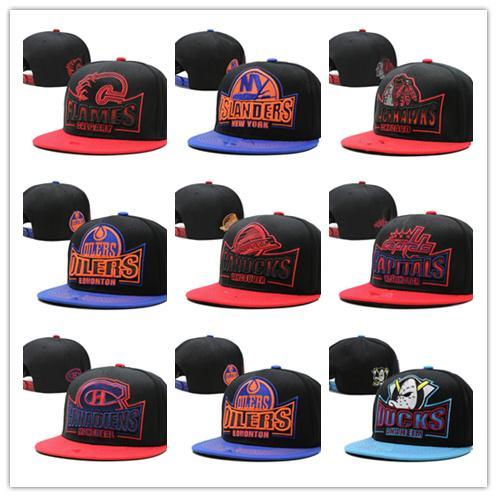 Cheap newest Mighty Hockey Bones Snapback Hats Anaheim bone cap Flat Fashion nhl Hats sports Cheap mens women baseball caps