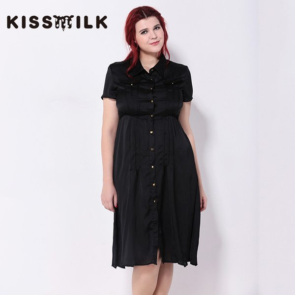 2018 Kissmilk Plus Size Summer Western Style Fashion Loose Solid Color  Short Sleeve Large Size 3xl 6xl Woman\'S Casual A Line Dress From Mangcao,  ...