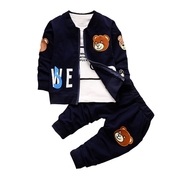 5be3ef6f52aa1 2019 BibiCola Baby Boy Clothing Sets Kids Coat+T Shirt+Pants Children  Clothes For Spring Autumn Bebe Boy Outfits Bib Tracksuit Y1893005 From ...