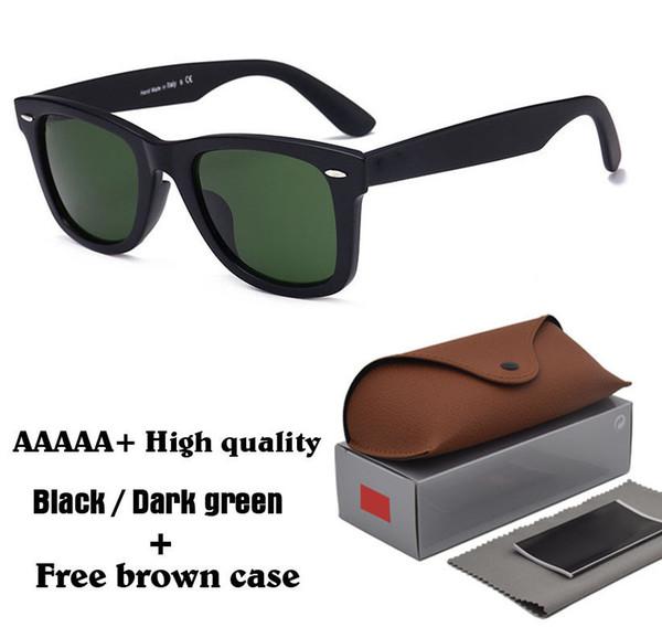 High quality Fashion Men Women Sunglasses Brand Designer Metal hinge Glass lens Plank frame Sport Vintage Sun glasses With box and cases