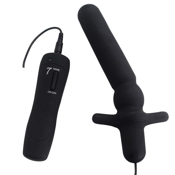Brinquedos sexuais para as mulheres anal vibrador silicone butt plug vagina massageador teaser clitóris mamilo estimulação para dona de casa 7 freqüência AFL89020