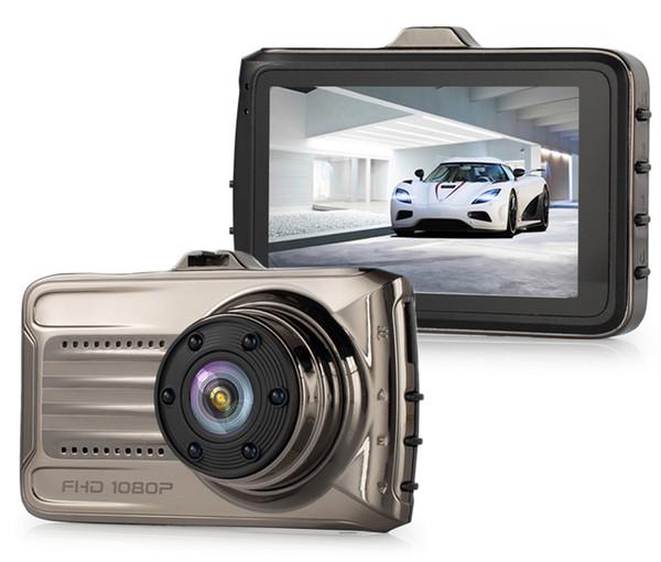 "3"" car DVR dashcam driving video black box 1080P full HD car camera recorder 2Ch dual lens 170° G-sensor loop recording"