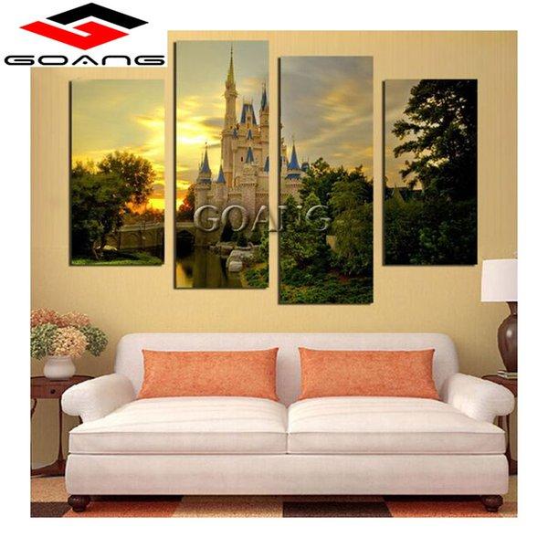 4pcs beautiful Russian castle scenery 5d diy diamond painting cross stitch rhinestone mosaic home decoration diamond embroidery