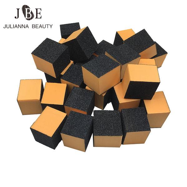 100 pcs Mini Nail Buffer Block Sponge Block Disposable Black Nail File 100/180 Mini Buffer File Manicure Tool 30*30*25mm