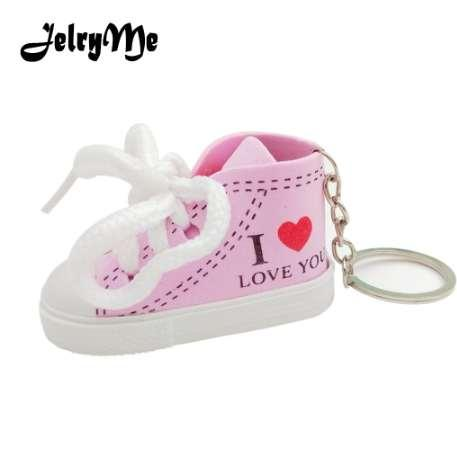 Simulation Women's Shoes Sneakers Keychains Purse Pendants Trendy 2018 Heart Key Rings Holder Cute Car Key Chains Ladies Jewelry