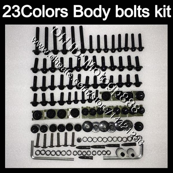 Kit completo de tornillos de carenado Para YAMAHA R6 YZFR6 08 09 10 11 YZF-R6 YZF600 YZF R6 2008 2009 2010 2011 Tuercas de cuerpo tornillos tuercas kit de tornillos 23Colores