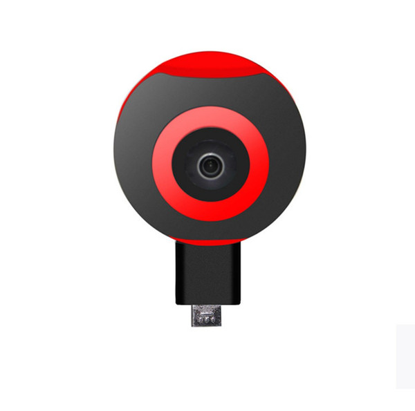 Mobile lens motion camera 360 degree panorama self timer camera 720 degree Android USB Pisces eye VR camera
