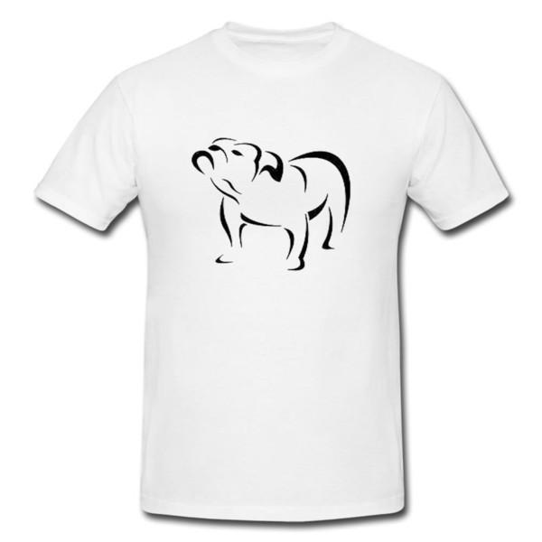 Bull Dog Funny Mens o Lady Fit T Shirt camiseta Regalo divertido Novedad Fresco Casual Pride T Shirt Hombres Unisex Nueva moda camiseta