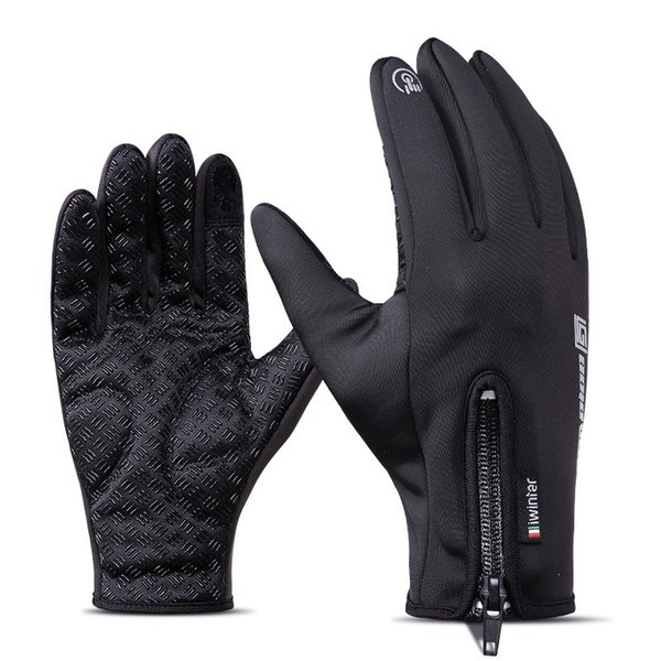 Ski Skiing Gloves Fleece Thermal Glove Touch Screen Double Waterproof Winter Outdoor Sport Windproof Riding Full Finger Gloves