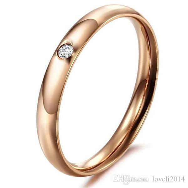JEWELRY 2016 Big Promotion Real 18K Rose Gold /Silver Plated CZ Diamond Element Austrian Crystal Engagement Rings Wholesale