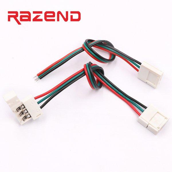 5 Adet 3 pinli konnektör PCB Lehimsiz Köşe Konnektörler 1 2 Klip 10mm genişlik PCB için led piksel şerit
