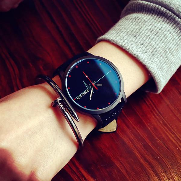 2017 moda di alta qualità al quarzo casual orologio da polso in pelle da uomo orologi sportivi ragazzo orologio maschile relogio masculino