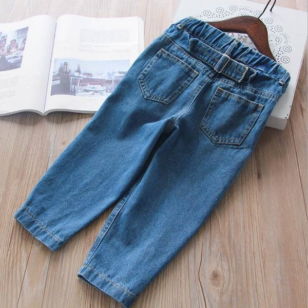 2018 new arrival girls boys denim pants spring autumn fashion kids jean pants 2-7t DF126