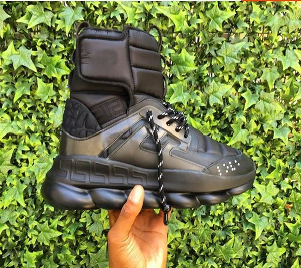 2018 autumn and winter new Medusa men's shoes thick bottom increased short tube Martin boots Korean high-top men's shoes18965605
