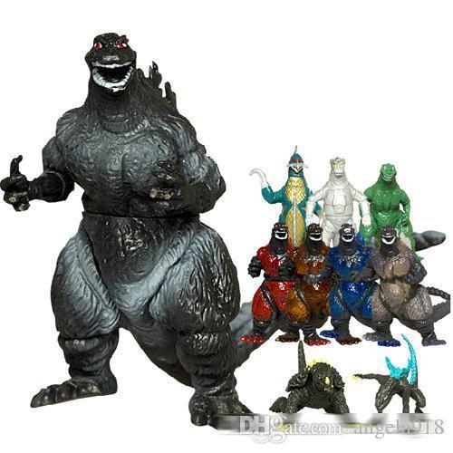 Nouveau monstre géant Godzilla Action Jouet PVC Chiffres Chiffres 10pcs / Set Meilleur Cadeau pour les Enfants DHL gratuite E1927