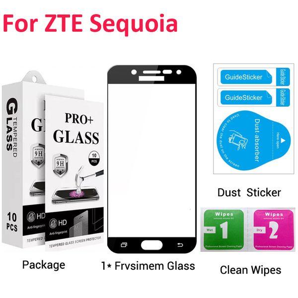 Zte Sequoia Zmax pro2 Max XL N9560 Max 3 Z986U Tam Kapak Temperli Cam Ekran Koruyucu Film Kağıt Paketi Ile