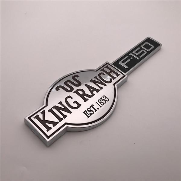 Custom Chrome brown and black KING RANCH est.1853 F150 Car emblem badge sticker nameplate logo