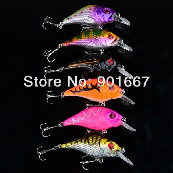 Wholesale-Hot Proberos Crank Lures 30pc/lot selling fishing lure 6 color 7.5cm/10.2g top water magician fishing tackle freeshipping