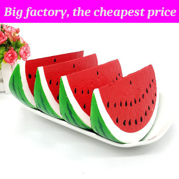 best selling Squishy big watermelon huge squishies Slow Rising Soft Squeeze Cute Cell Phone Strap gift Stress children toys Decompression Toy
