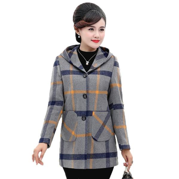 Manteau d'hiver femme gris