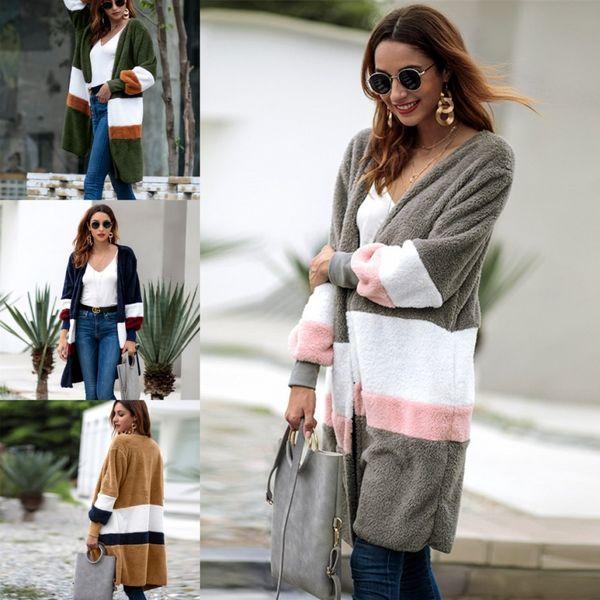 2018 Faux Pelzmantel Frauen Mode Streetwear Lose Stil Wintermantel Frauen Warm und Komfort Mantel FS5187