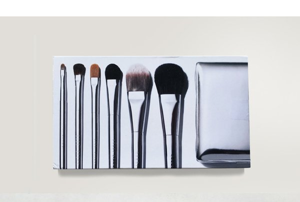 6piece Deluxe Silver Travel Brush Set With Bag Case Horse Hair Party Twilight Metalized Makeup Brush Set Holiday Collection DHL