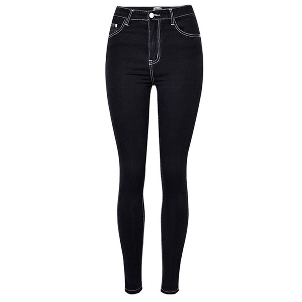Black Jeans For Women Ankle-Length Pants New Stretch High Waist Cotton Denim Jeans Famale Skinny Slim Pencil Elastic Trousers