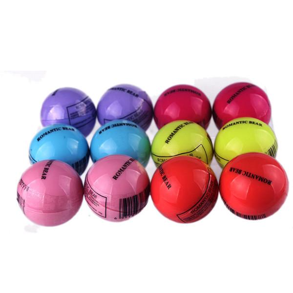 top popular 3D Round Ball Lipstick Makeup Lip Balm 6 Colors Moisturizing Natural Plant Sphere Fruit Pomade Lip Gloss Embellish Lip Care Lipgloss 2021