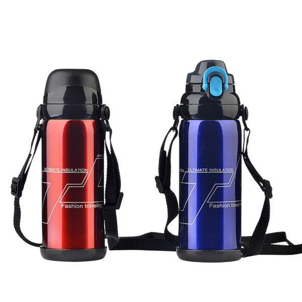 800ml Competitive Price New 5 Colors Stainless Steel Insulated Thermo Pressing Type 800ml Sports Thermal Vacuum Water Bottle