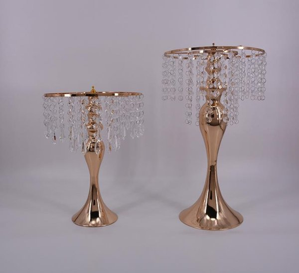 10pcs Big size 48cm gold mermaid wedding props road led table decoration crystal centerpieces Express free shipping